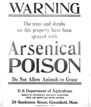 An old government warning poster.