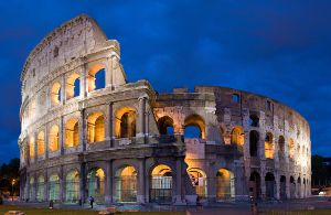Roman Colosseum held together with calcium based cement.