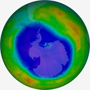 Ozone hole above Antarctica