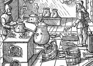 Sulfur refining in the 1500s
