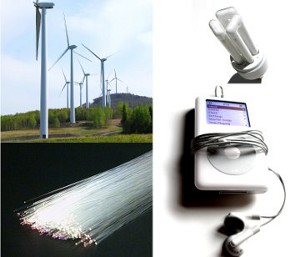 ... iPods, Blackberries, wind turbines and energy-efficient light bulbs