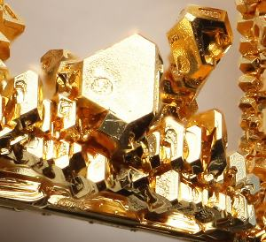 Crystalline gold.