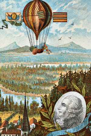 Louis de Morveau and balloon.