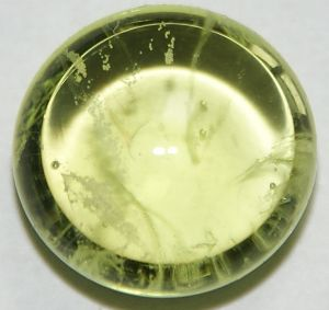 Praseodymium colored glass.
