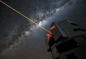Laser excitement of atmospheric sodium