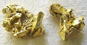 native gold crystals