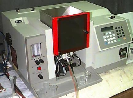 Picture of a flame atomic-absorption spectrometer